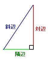 長 直角 さ 三角形 辺 の