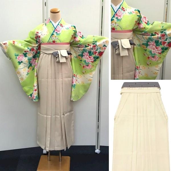袴レンタル|九重|新品|若草地小花着物とベージュ地袴|No.100-155