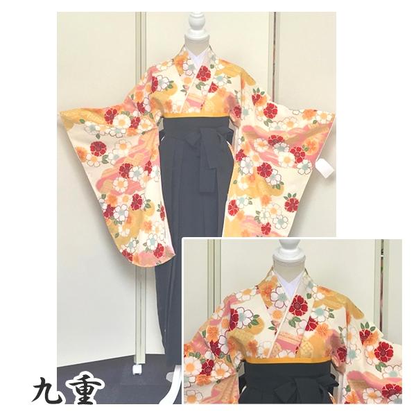 新品入荷|九重|可愛い和柄・箔使い豪華な着物&袴No.100-161